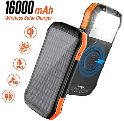 Solar Power Bank, Soxono 16000mAh