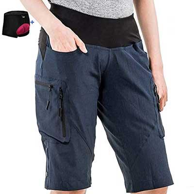 Cycorld Women's Mountain Bike MTB Shorts Cycling Shorts Padded Bike Short