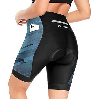 NICEWIN Womens 3D Padded Bike Shorts
