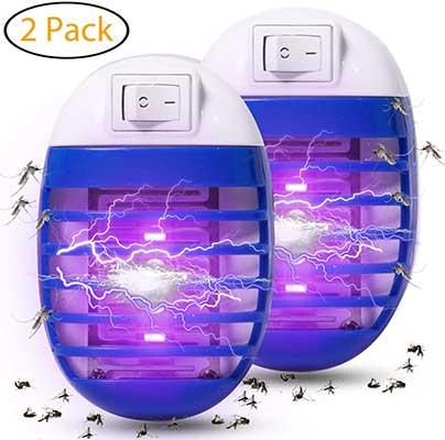 Wanqueen 2 Pack Indoor Electric Bug Zapper