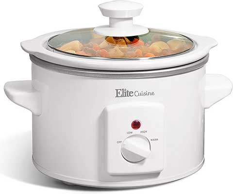 Maxi-Matic MST-250XW Slow Cooker, 1.5 Quart, White