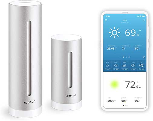 Netatmo Weather Station Indoor and Outdoor with Wireless Outdoor Sensor
