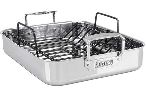 Viking Culinary 3-Ply Stainless Steel Roasting Pan