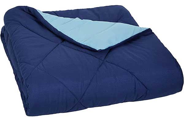AmazonBasics Reversible Microfiber Comforter Blanket – Full or Queen