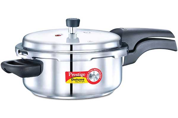 Prestige Deluxe Induction Base Stainless Steel Pressure Cooker