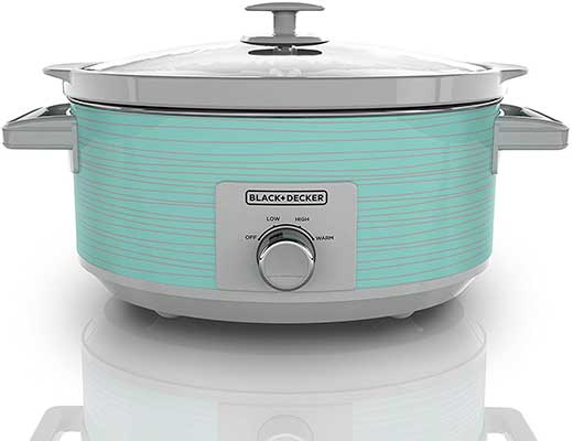 BLACK + DECKER SC2007D Slow Cooker, 7 Quart