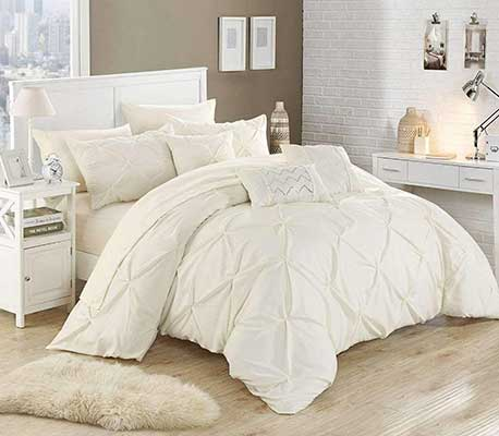 Chic Home 10 Piece Hannah Pinch Pleated, ruffled and pleated complete comforter