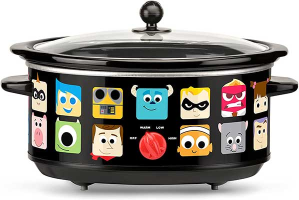 Disney Pixar Slow Cooker, 7 Quart, Black