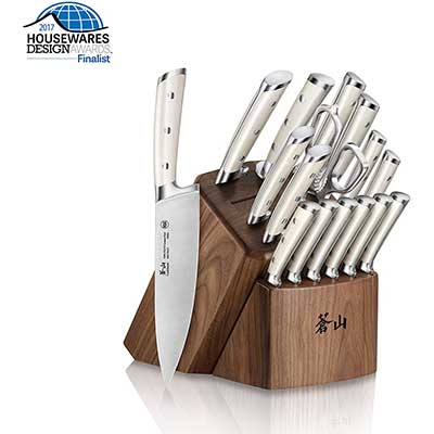 Cangshan S1 Series 1022599 German Forged 17-Piece Knife Block Set