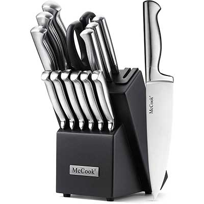McCook MC21 15-Piece German Stainless Steel Knife Sets
