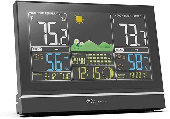 Wittime Latest 2076 Weather Station, Wireless Indoor Outdoor Thermometer
