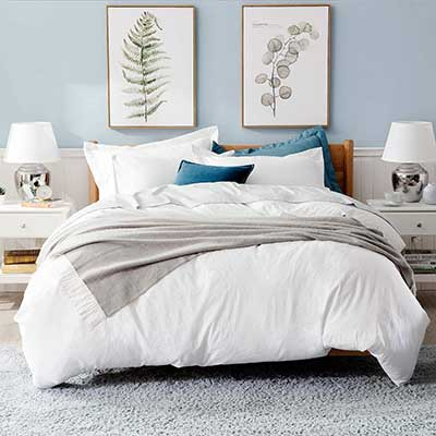 Bedsure White Washed Duvet Cover Set