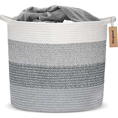COSYLAND Large Woven Storage Basket
