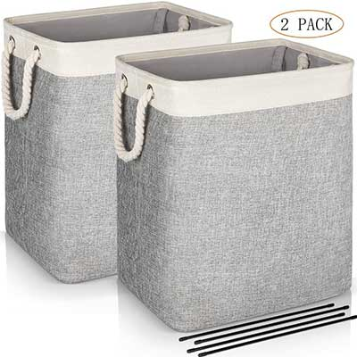 JOMARTO Laundry Basket with Handles 2 Pack