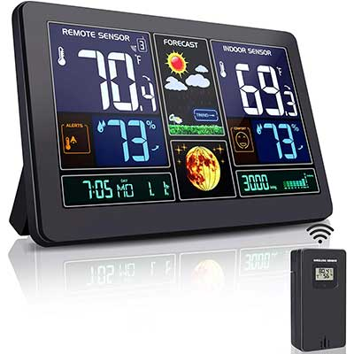 Greenke Weather Stations Wireless Indoor Outdoor Thermometer