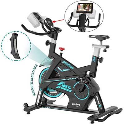 Pooboo Magnetic Exercise Bike Belt Drive