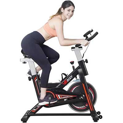 VIGBODY Stationary Bike Exercise Bike Belt Drive