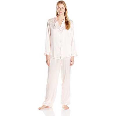Fishers Finery Women's Classic Pure Mulberry Silk Pajama Set