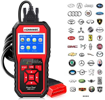 KONNWEI KW850 Professional OBD2 Scanner Auto Code