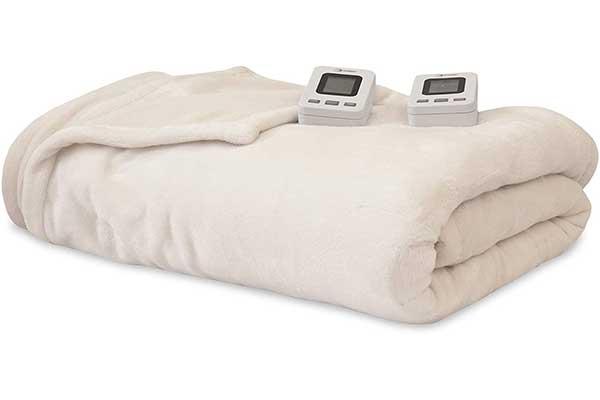 SensorPedic Heated Electric Blanket with SensorSafe, King Ivory