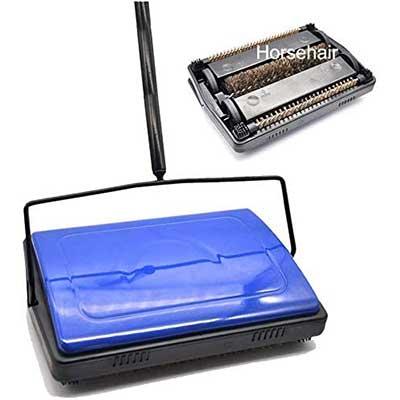 EZ SPARES Quiet Carpet Sweeper Floor Sweeper