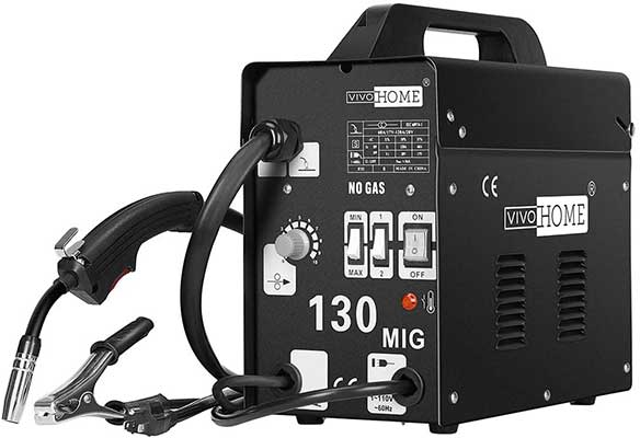 VIVOHOME Portable Flux Core Wire No Gas MIG Welder Machine