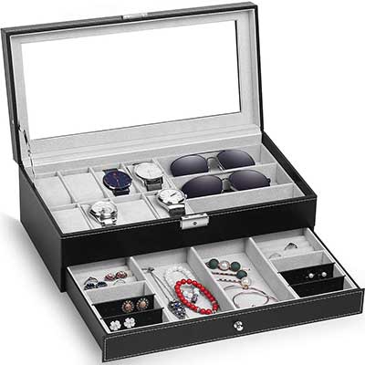 TomCare Upgraded Watch Box Case