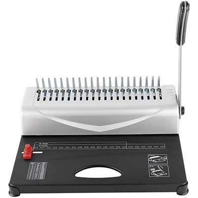 Heavy Duty 450 Pages 21 Rectangle Hole Paper Comb Binding Machine