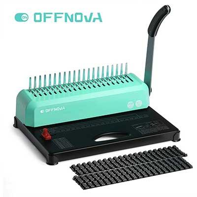 OFFNOVA 21-Hole 450 Sheets Paper Comb Punch Binder