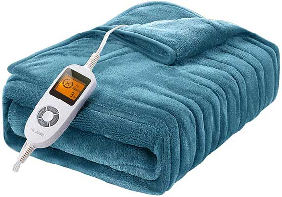 Homech Electric Throws, Electric Blankets with Double-Layer Flannel