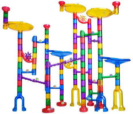 Meland Marble Run – 122 Pcs Marble Maze Building Game Toy for Kid