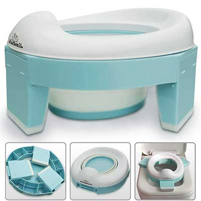 3-in-1 Go Potty for Travel, Portable Folding Toilet Seat
