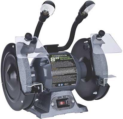 "Genesis GBG800L 8"" Bench Grinder with Dual Wheels"