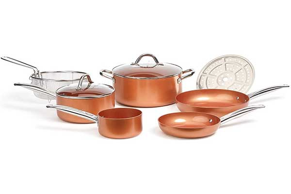 Copper Chef Cookware 9-Pc Round Pan Set