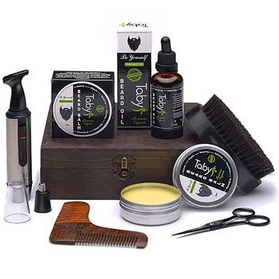 Beard Care Kit, Grooming & Trimming Gift Set for Men