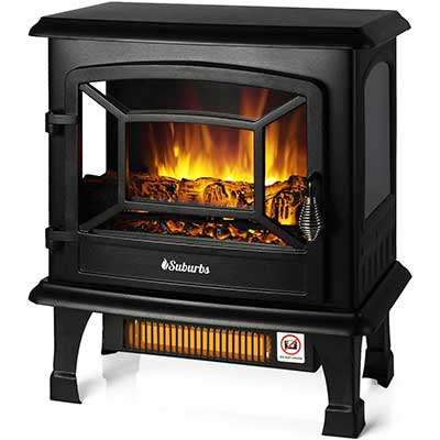 TURBO Suburbs TS20 Electric Fireplace Infrared Heater