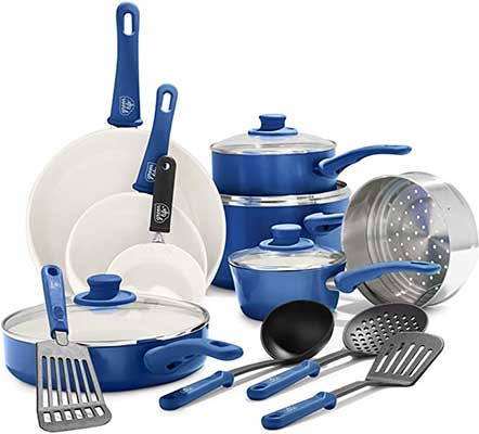 GreenLife Soft Grip Healthy Ceramic Nonstick Cookware Set