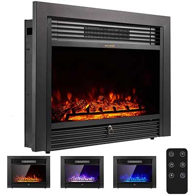 "YODOLLA 28.5"" Electric Fireplace Insert with 3 Color Flames"