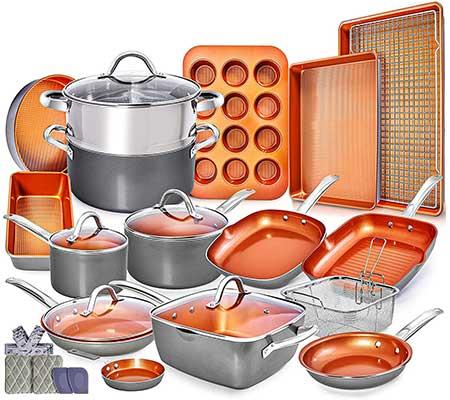 Home Hero Copper Pots and Pans Set