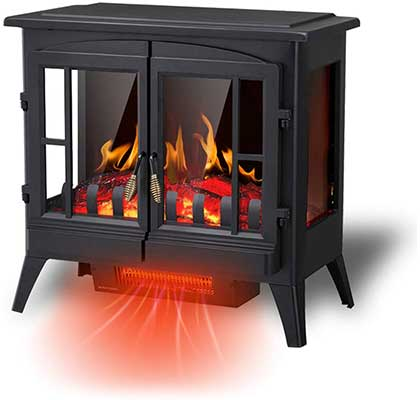 R.W.FLAME Electric Fireplace Infrared Stove Heater