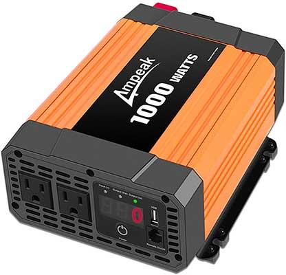 Ampeak 1000W Power Inverter Truck/RV Inverter