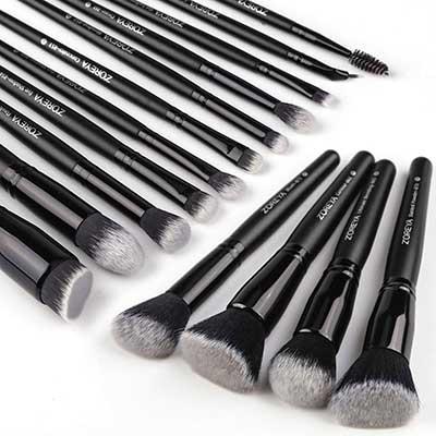 Zoreya Makeup Brushes 15 Pcs