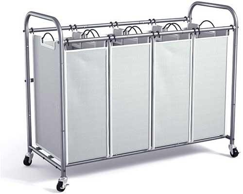 ROMOON 4 Bag Laundry Sorter Cart