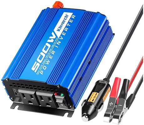 Kinverch 500W Continuous 1000W Peak Car Power Inverter