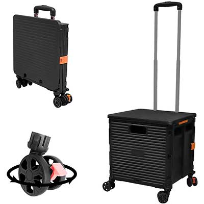 Foldable Utility Cart Folding Portable Rolling Crate