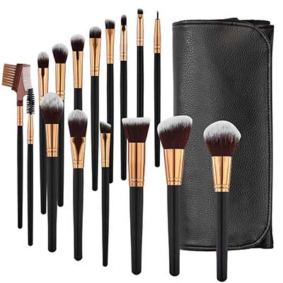 SOLVE Makeup Brushes 16 Pcs Premium Synthetic Foundation