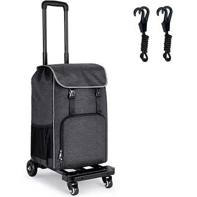 Orange Tech 2in1 Folding Shopping Trolley Dolly Cart