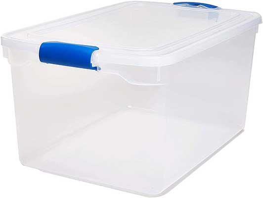 Homz Plastic Storage, Modular Stackable Storage Bins