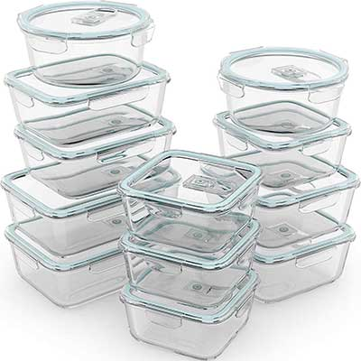 Razab 24 Pc Glass Food Storage Containers