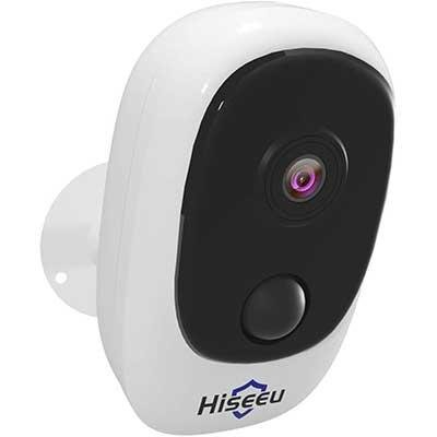 Hiseeu Battery Security Camera, Wireless Rechargeable Battery Powered Wi-Fi Camera